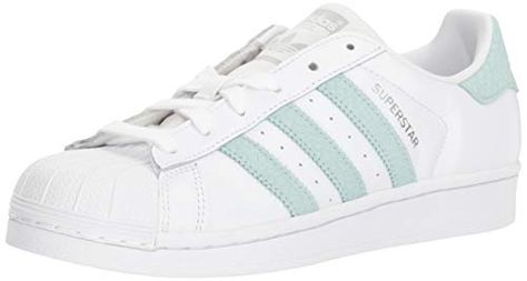 adidas Originals Women's Superstar Shoes Running, Whiteash