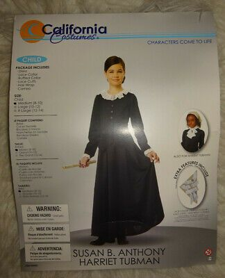 Susan B Anthony Harriet Tubman 1800/'s Colonial Historical Child Costume