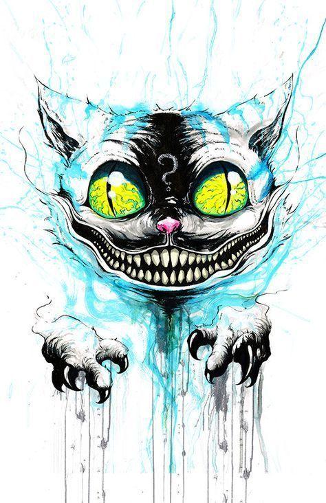 We Re All Mad Here Drawingtips Tim Burton Art Wonderland Tattoo Horror Art