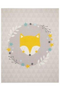 Tapis pour chambre de bebe SLEEPY FOX MD violet, jaune en ...