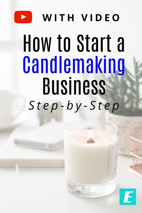 Are you thinking about starting a candle making business? If so, check out this step-by-step tutorial for how to start a candle making business. Candle Making At Home, Candle Making For Beginners, Candle Making Business, Soy Candle Making, Making Candles, How To Make Candle, Small Candles, Home Candles, Homemade Scented Candles