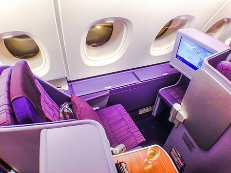 Thai Airways A380 Royal Silk Business Class Seat 17A #SkyLuxTravel #BusinessClass #Luxurytravel #Aviation #Traveltips #Airline #BusinessClassSeat #AircraftInteriors