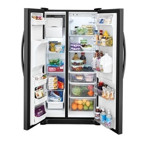 Frigidaire Gallery 25 5 Cu Ft Side By Side Refrigerator Black Stainless Steel 7 1 10 Cu Ft Kitch Side By Side Refrigerator Frigidaire Refrigerator