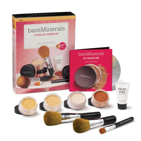 Bought this kit a while ago and now I've used it a few times... I think I've found myself a winner for summertime makeup. Bare Minerals Get started kit in Light works for me - covers enough and lets my skin breathe.