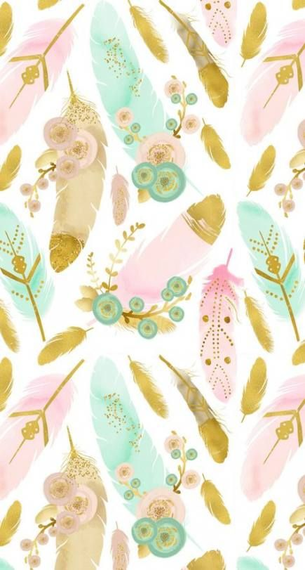 Wall Paper Iphone Boho Phone Wallpapers 68 Ideas Iphone Wallpaper Pattern Boho Wallpaper Watercolor Feather