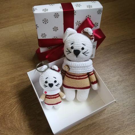 Dinah Crochet: Cat keychains | 474x474