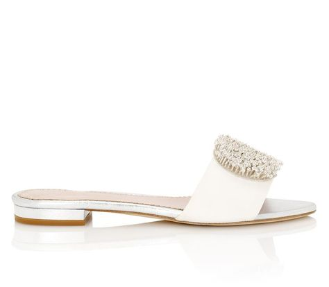 3abb329cb Coco Slider Wedding Shoe Suede and Silver with Swarovski Created by Emmy  London Jude Silver -