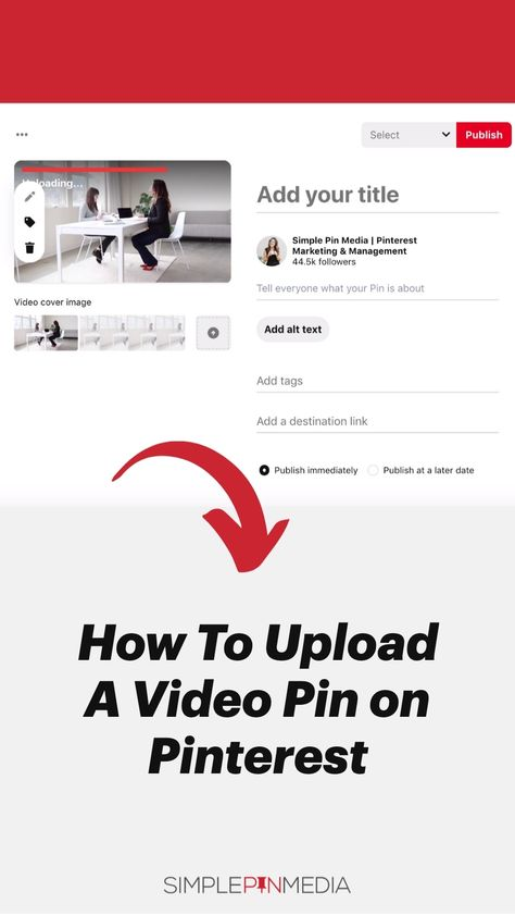 How To Upload A Video Pin on Pinterest