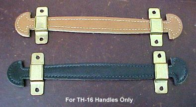 Antique Trunk Leather Handles For