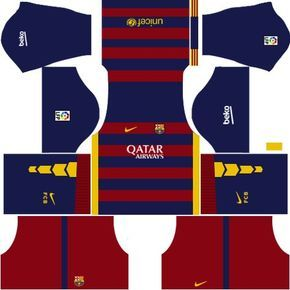 Dream League Soccer Kits Barcelona 2015 2016 With Logo Url Soccer Kits Soccer League Barcelona Football Kit