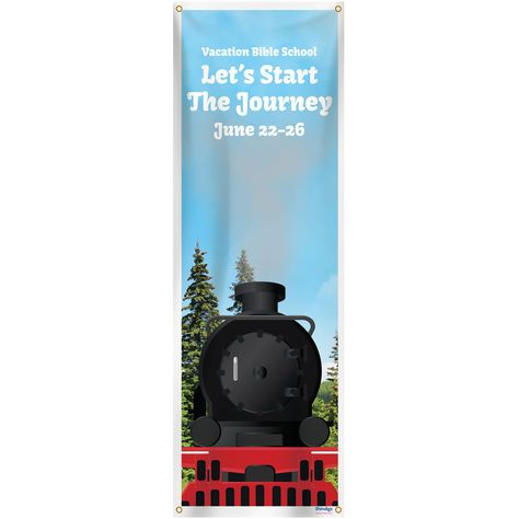 Rocky Mountain Railroad Personalized Vertical Banner Railroad Spon Mountain Rocky Banner Ad In 2020