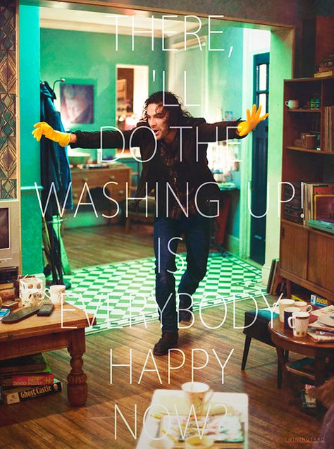 One of the many times this show made me laugh...I'll take a vampire to clean my house if he looks like that...