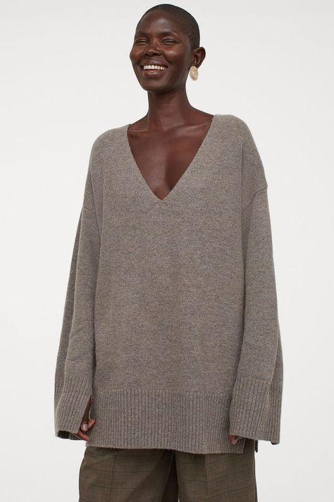 HM Oversized Wool-Blend Sweater