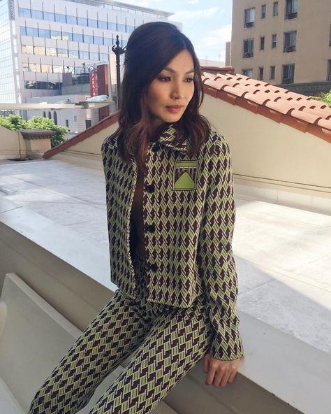 "Rebecca Corbin-Murray on Instagram: ""Gemma in #Prada announcing the Independent Spirit Awards ✨ • mu @storyofmailife • hair @clarissanya •"""