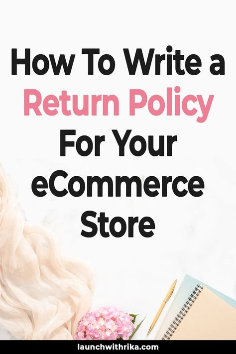 Return Policies Are Important Establish Trust But How Do You Write A Return Policy For Yo Business Plan Template Free Policy Template Small Business Instagram