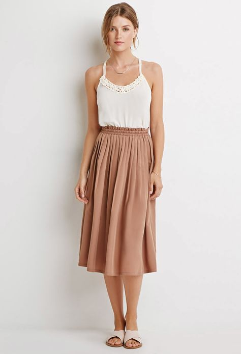 feaf1a2a7 Pleated A-Line Skirt   Forever 21 Canada   ~Skirts~   A line skirts ...