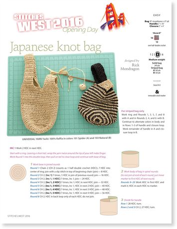 Colorful Crochet Japanese Pattern Images - Easy Scarf Knitting ...