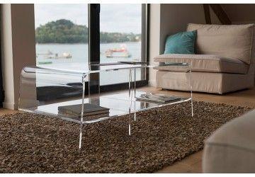 Table Basse Transparente Cristal Carree Table Basse Transparente