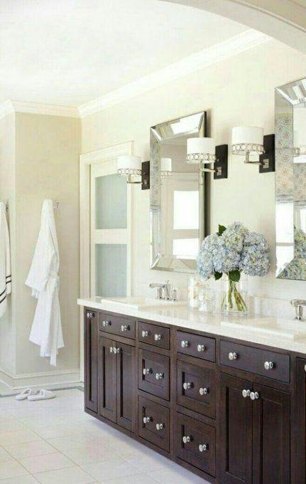 Bathroom Vanity Double Sink White Pottery Barn 21 Ideas White Vanity Bathroom Trendy Bathroom Bathroom Mirror Cabinet