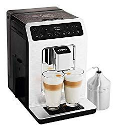 Krups Ea89 Deluxe One Touch Super Automatic Espresso And Cappuccino Machine 15 Fully Customizable Drinks Gray Espresso Machine Reviews Espresso Machine Automatic Espresso Machine