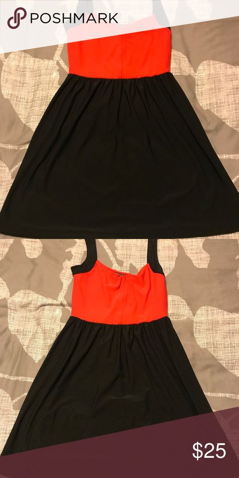 Red & Black Dress Excellent quality. Only worn once! Perfect for all occasions. BeBop Dresses Mini