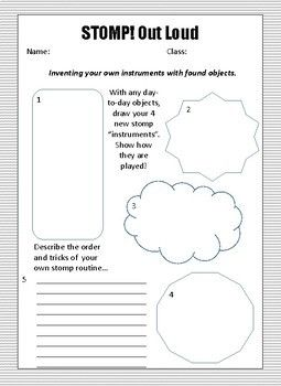 Worksheet To Go Along With Stomp Out Loud Elementary Music Lessons Music Lessons For Kids Elementary Music Stomp out loud worksheet