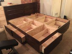 25 Best Diy Plywood Bed Frame Designs With Storage Bed Frame With Drawers Platform Bed With Drawers Diy Platform Bed