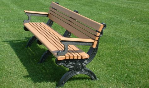 the cambridge recycled park bench