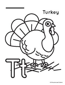A Trace And Color Sheet Designed To Help Children Learn To Correctly Write The Letter T Perfect For Thanksgiving Lettering Letter T Help Kids Learn