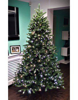 The 12ft Ultra Devonshire Fir Pre Lit With Warm White White Colour Change Leds Led Christmas Lights Pre Lit Christmas Tree 8ft Christmas Tree