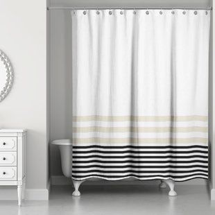 Get Beautifully Designed Black Shower Curtain For Your Bathroom