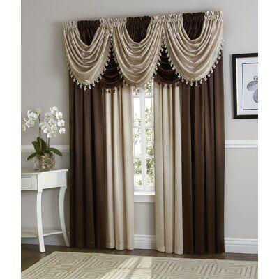 Astoria Grand Weisberg Solid Semi Sheer Rod Pocket Curtain Panels