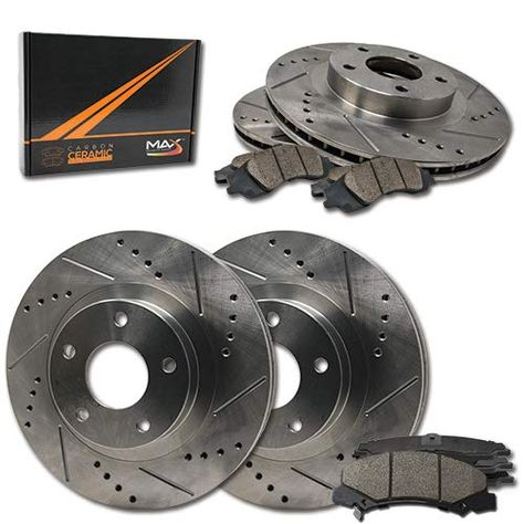 Brake Pads And Rotors Prices >> Max Brakes E Coated Slotted Drilled Rotors W Ceramic Brake