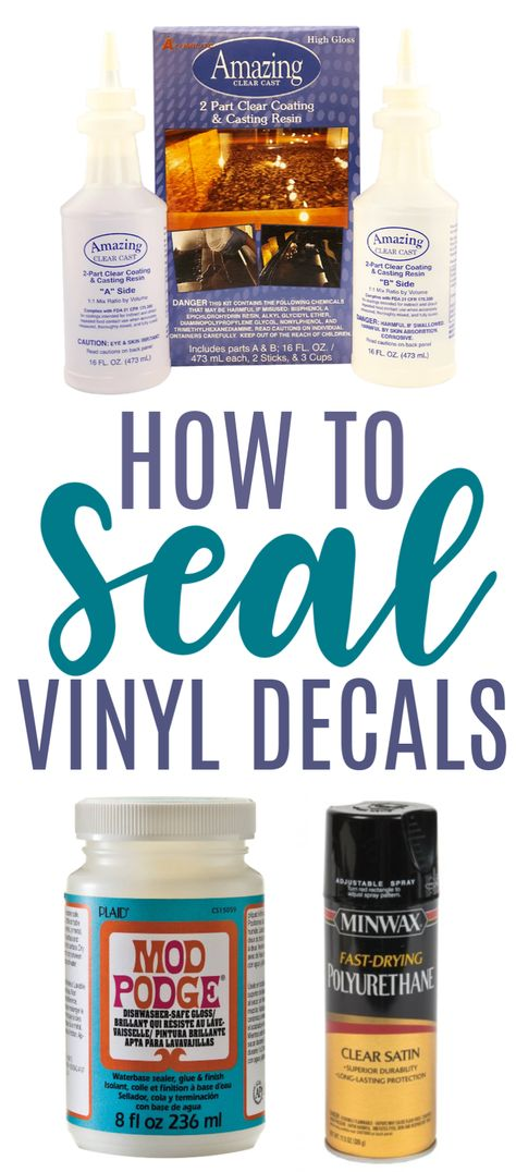 How To Seal Vinyl Decals - Makers Gonna Learn - Cricut Projects and How To's - for the Cricut - Tantan epoxy
