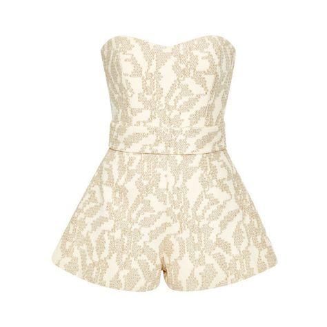 a509bfa7ce List of Pinterest strapless jumpsuit white images   strapless ...