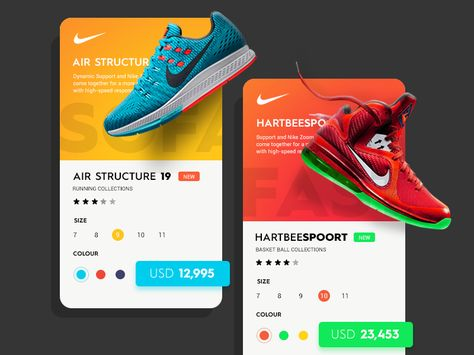 separation shoes 47bd4 1a9bc This is the follow-up shot to Daily UI  4 - Nike. just an another concept  of having pieces of the UI outside of the frame. Hope you guys like it, ...