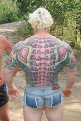 And his/her back.