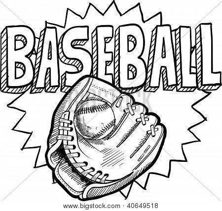 Bosquejo Del Guante De Beisbol Con Imagenes Paginas Para