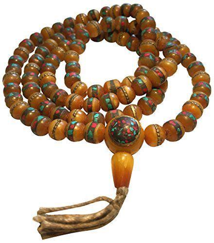 Om Lotus buddha bracelet set magnesite jasper tassel bronze mala Bracelet