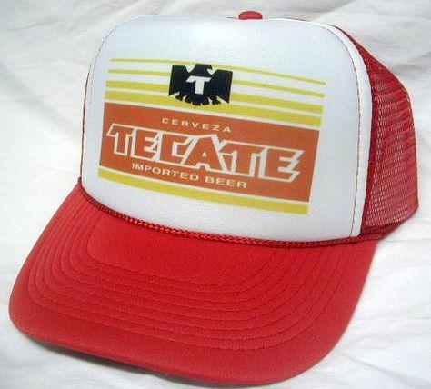 f82427dcc98 Tecate Beer Trucker Hat mesh hat snapback hat