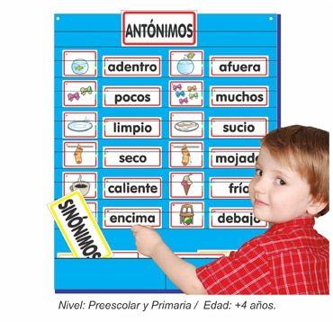 Set De Sinónimos Y Antónimos Material Educativo Para Niños Sinónimos Y Antónimos Sinonimos Para Niños Antónimos
