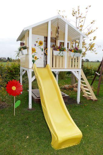 Kundenbild Stelzenhaus Tobi Mit Rutsche Kinder Spielhaus Garten Stelzenhaus Spielhaus Garten