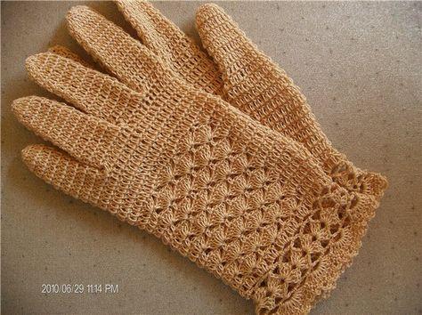 tutorial crochet gloves