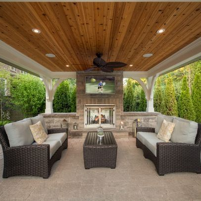Delightful Outdoor Stone Fireplaces | Lanterns Outdoor TV Pavilion Recessed Lighting  Stone Fireplace Stone U2026 | Home | Pinterest | Outdoor Stone Fireplaces, ...