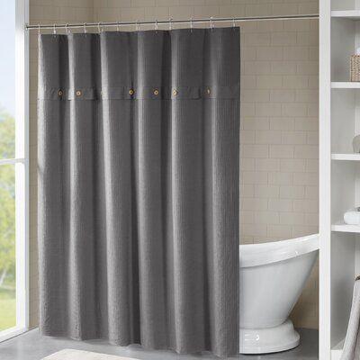 Eider Ivory Carmella Waffle 100 Cotton Single Shower Curtain