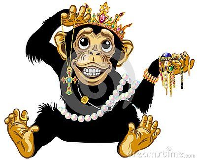 Cartoon Chimp Monkey Or Chimpanzee Great Ape Wearing A Gold Crown Playing With Gemstone Jewelry And Holding Cartoon Cartoon Animals Graphic Designer Portfolio As per the wiki's spoiler policy, trope names are not behind spoiler tags. cartoon chimp monkey or chimpanzee