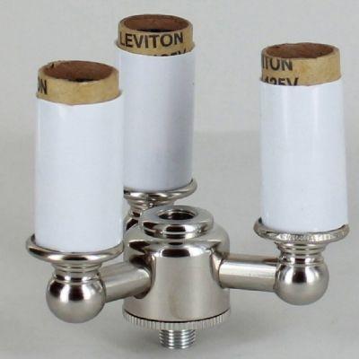 3 Light Lantern Style Cluster Kit With E 12 Base Candle Sockets