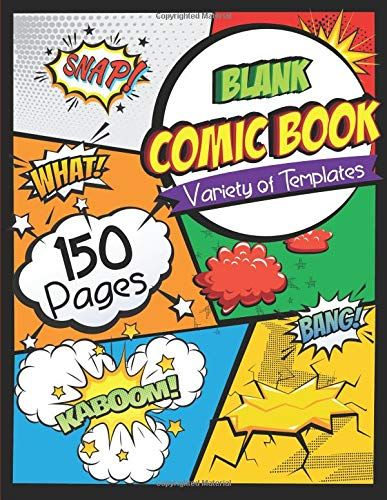 Download Pdf Blank Comic Book Draw Your Own Comics 150 Pages