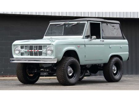 A Comprehensively Restored And Upgraded 1969 Ford Bronco With A 302 Cu In V8 In 2020 Ford Bronco Bronco Black Steel Wheels