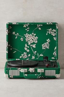 Crosley Cruiser Hydrangea Bluetooth Vinyl Record Player Bluetooth Record Player Vinyl Record Player Record Player